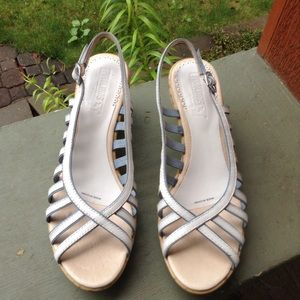 Pikolinos Leather Blue White Sandals Size 39